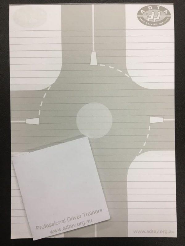 notepad and sticky